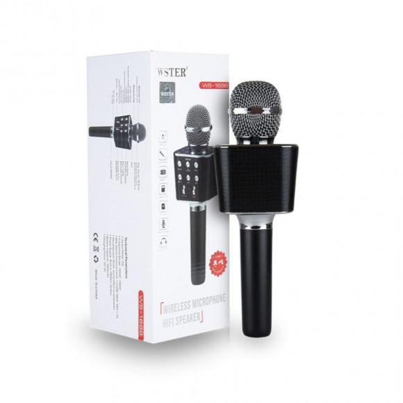 Микрофон караоке беспроводной  WS-1688 Black в Киеве