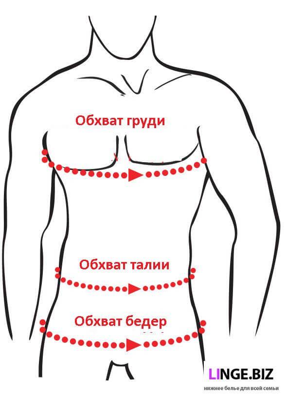 определить размер мужского термобелья Hetta